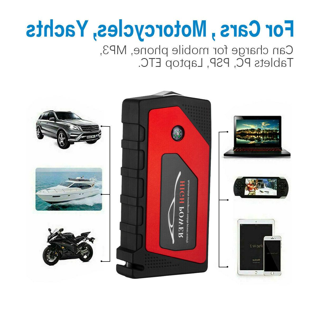 Car 69800mAh Portable Charger Power with LED 12V